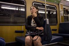 . (www.piotrowskipawel.pl) Tags: street city woman public germany subway munich mnchen bayern metro tube streetphotography ubahn publictransport decisivemoment colorstreetphotography