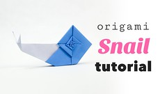 Origami Snail Tutorial from Origami Garden by Ioana Stoian  (paperkawaii) Tags: origami instructions paperkawaii papercraft diy how video youtube tutorial
