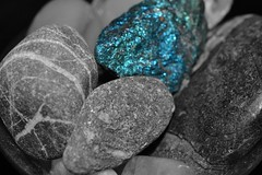 Selective mineral (hcorper) Tags: rocks stones mineral selectivecolour 100x