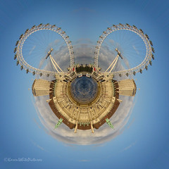 tiny planet - london eye & county hall (sure2talk) Tags: londoneye countyhall tinyplanet tinyplanetlondoneyecountyhall