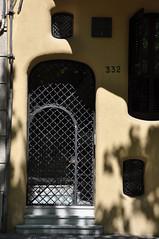 Barcelona (332 Diagonal Avenue). Planells House (Casa Planells). 1923-1924. Josep Maria Jujol, architect (Catalan Art & Architecture Gallery (Josep Bracons)) Tags: barcelona door house building art architecture casa arquitectura puerta gallery arte apartment balcony kunst edificio galeria catalonia diagonal porta porte catalunya maison balcon modernismo sicilia catalua catalan modernisme immeuble batiment 1923 1924 edifici jugendstil catala erker katalonien josep catalogne oriel 332 tribuna viviendas eixample ensanche window art planells balco modern jujol bay style bracons nouveau habitatges bovindo bow