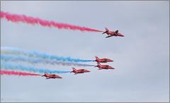 Red Arrows (Hindrik S) Tags: redarrows red white blue jet airjet airplane airforce raf sky loft lucht luchtmacht loftmacht plane straaljager strieljager stunt team pilot color daredevil light kh2018 kulturelehaadstêd2018 ljouwert liwwadden leeuwarden vliegbasis fryslân friesland sonyphotographing sony sonyalpha a57 α57 slta57 16300 tamronaf16300mmf3563dillvcpzdmacrob016 tamron tamron16300 machine 2016