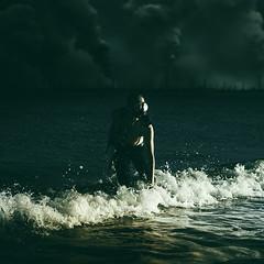 Breathe (Simon McCheung) Tags: scotland sea gas mask pollution factories water spooky escape seeker run away