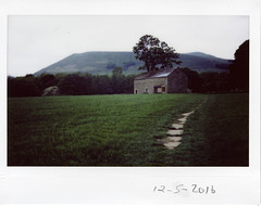 Thursday 12th May (ronet) Tags: field barn peakdistrict utata edale thursdaywalk fujiinstax200wide