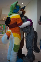 Sieo hugs (Harlequeen) Tags: hugs fursuit confuzzled furcon sieo confuzzled2016