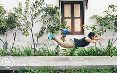 Superman: Inspire People to Dream Big (azharicious) Tags: people english garden flying shoes floating levitation puma