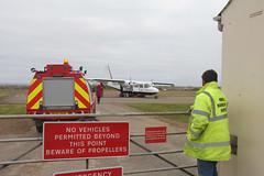 Hamlet in the Sky (ƒliçkrwåy) Tags: scotland airport orkney aircraft aviation north islander airliner egen brittennorman loganair nrl ronaldsay gbpca