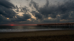 _DSC1493 (chriswheatley97) Tags: obx outer banks north carolina nags head fishing pier morning sunrise ocean beach sand clouds sun