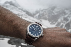"The Alpina Watches ""Alpiner 4 Automatic"" with Glacier Blue Dial AL-525NS5AQ6 on the Mont Blanc (Alpina Watches) Tags: mountain snow france alps sports sport geneva watches alpina climbing alpine automatic wrist climber luxury montblanc alpinist alpinawatches alpiner4 al525ns5aq6"