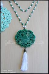 """Colar comprido """"Green China"""" (colecção Primavera-Verão 2016) (GataPreta Artesanato) Tags: colar colares bijuteria bijuterias bijuteriaartesanal necklace"""