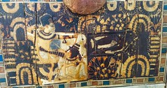 Wooden chest decorated with hunting scenes for Tutankhamun in the company of the queen (Amberinsea Photography) Tags: egypt ivory cairo ebony tutankhamun egyptianmuseum woodenchest thecairomuseum amberinseaphotography tombtreasureoftutankhamnun