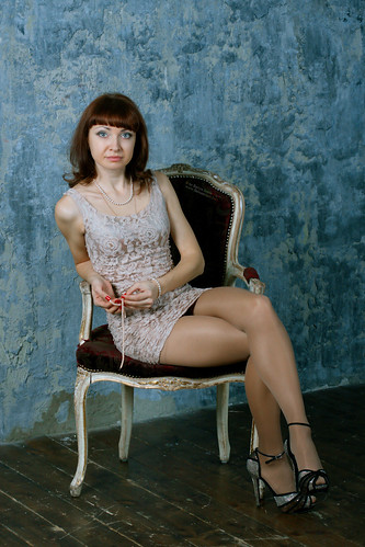 Alenka in ultra-short and super-tight dress