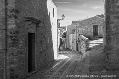 Erice (Lord Seth) Tags: 2015 d5000 erice lordseth sicilia bw biancoenero borgo italy medievale nikon vicoli