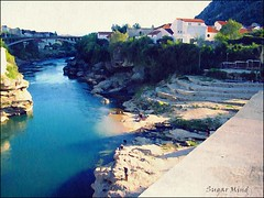 Stari Most (Old Bridge), Mostar (Sugar Mind) Tags: old bridge colors river painting mostar fiume sugar unesco mind 1001nights colori starimost dipinto bosniaandherzegovina platinumheartaward mygearandme mygearandmepremium dblringexcellence