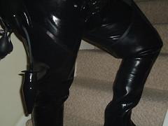 (gummiskin) Tags: gay white black socks fetish skin boots rubber gloves gasmask gummi waders rubberboots laces rubberman rubberskin