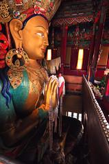 Maitreya Buddha, Thiksey Monastery, Ladakh. (Veeds) Tags: india buddha monastery leh himalayas ladakh thiksey jammukashmir maitreyabuddha