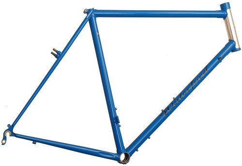 <p>Waterford 22-Series Artisan Frame with stainless head tube and headbadge, internal brake cable routing and and canty brakes, Marlin Blue - 62997.</p>