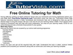 Free online tutoring for math