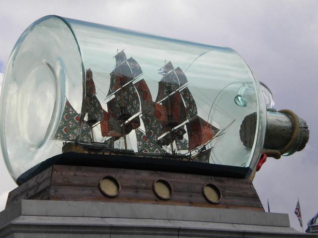 Yinka Shonibare's 'Nelson's ship in a bottle' © Yinka Shonibare/R. Sones 2010