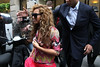 Beyonce Knowles and Jay-Z with daughter Blue Ivy arriving at Meurice Hotel in Paris, France Paris, France