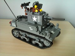 Brickmania M3A1 Stuart (The Desert Rat) Tags: lego wwii stuart m3a1 brickmania