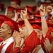 Grads cheer as their dean announces their college.