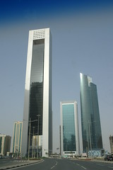 Tall Towers (keithmaguire ) Tags: road architecture modern buildings asian asia downtown commerce skyscrapers district towers central east business commercial cbd middle economy doha qatar finance catar  katar    qatari      dauha   addawa     dauh