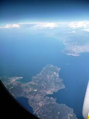 To London... Isola d'Elba (R come Rit@) Tags: italy panorama landscape travels italia views viaggi vedute viewfromplane elbaisland isoladelba vedutadallaereo ritarestifo