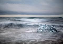 Ice Flow (Mute*) Tags: sea motion blur ice beach iceland surf waves iceberg jokulsarlon jökulsárlón bwfilter ndfilter canonef85mmf18usm 10stop manfrotto190cx tenstop bwfilter110