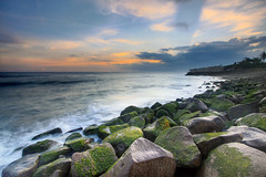 Seseh Interlude (Pandu Adnyana (thanks for 100K views)) Tags: sunset bali beach rock stone indonesia temple wave seseh
