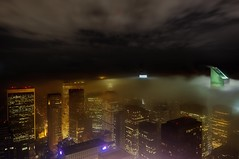 New York City on May 15, 2012 (mudpig) Tags: nyc newyorkcity longexposure cloud mist newyork reflection rain fog skyline night geotagged cityscape centralpark 5thavenue gothamist hdr topoftherock observationdeck bloombergbuilding citigroupcenter solowbuilding mudpig stevekelley avonbuilding stevenkelley