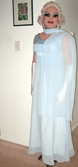 Blue Chiffon Evening Dress (Christine Fantasy) Tags: transsexual shemale