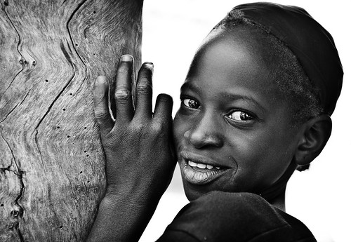 Portrait of a girl in a village near Ouahigouya, Burkina Faso