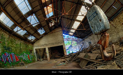 Urbex - Fonderie abondonne. (seb-r) Tags: france photoshop nikon europe tag bretagne fisheye hdr rennes usine fabrique urbex 105mm d90 ileetvilaine engare