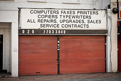 Computers, Faxes, Printers.... (gidsey_) Tags: uk england london shop computer geotagged tech it front southlondon southwark repairs printers camberwell se5 upgrades faxes copiers typewtiters