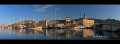 Trogir in Croatia at sunrise - Panorama - lathuy