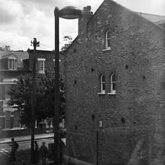 London 2009 (haglerphotography) Tags: street city urban bw london art 6x6 film analog work wow mediumformat square photography blackwhite cool documentary outoffocus 120film fujifilm ensign hagler palabra autaut trashbit kubrickslook ensign1946