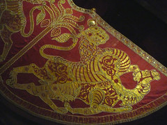 Coronation Mantle, detail of right half