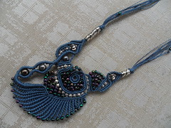 ciondolo conchiglia (patty macram) Tags: collier bijoux macrame collane macram margaretenspitze