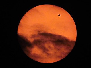Venus Transit through Clouds