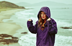 Get ya guns out (Stacey Price (Roxy_77)) Tags: newzealand beach rain windyday 50mm waves rainyday bluewater windy windswept oceanbeach whangarei d90 changeofseason whangareiheads nikon50mm womanonbeach oceansbeach wavescrashingonrocks nikond90 waterproofjacket staceyprice roxy77 d90and50mm whangareiheadsnewzealand oceansbeachwhangarei oceansbeachnewzealand womanwearinghood womanwearingjacket