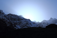 Sun coming from behind the mountains (Saroj Mishra) Tags: nature uttaranchal himalaya pindariglacier