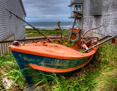 Washed Up Boat (Thad Roan - Bridgepix) Tags: ocean beach oregon hotel boat pacific newport hdr facebook d800 201205