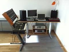 Geir Jenssen's studio (Dan Correia) Tags: ambient geirjenssen biosphere midi synth sampler amplifier speakers laptop macbookpro macintosh powertran transcendent2000 oxford oscar nord rack3 akai s3200 lpk25 photobygeirjenssen foundphoto 15fav topv111 topv333 topv555 topv777 topv999 topv1111 topv2222 topv3333 510fav