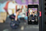 price neon phone mount smartphone record magnetic... (Photo: maryshitlaw on Flickr)