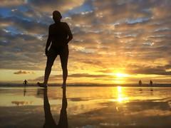 Sunrise Saturday 5th April 2014 (Michael.Sutton) Tags: beach silhouette sunrise australia nsw cronulla 365project iphoneography