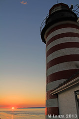 Sunrise at West Quoddy Head Lighthouse (mlanza) Tags: county autumn lighthouse fall sunrise dawn maine quoddyhead westquoddy manannew easternmost newenglandgrand brunswickcanadadowneastwashington