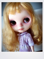 Tiffany Gold...trying out her Easter dress & loving her new face up!