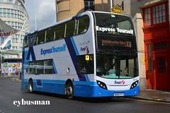 First West of England 33418, WA56FTT. (EYBusman) Tags: city england west bus bristol coach mare centre first somerset super 400 western express alexander dennis yourself avon x1 enviro cityline 33418 wa56ftt eybusman