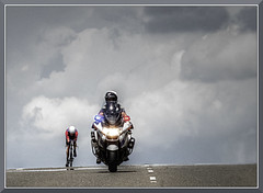 AmGen_0913d (bjarne.winkler) Tags: california sky by tour with time hill over folsom dramatic police motorcycle lonely rider epic trial amgen itt individual paced